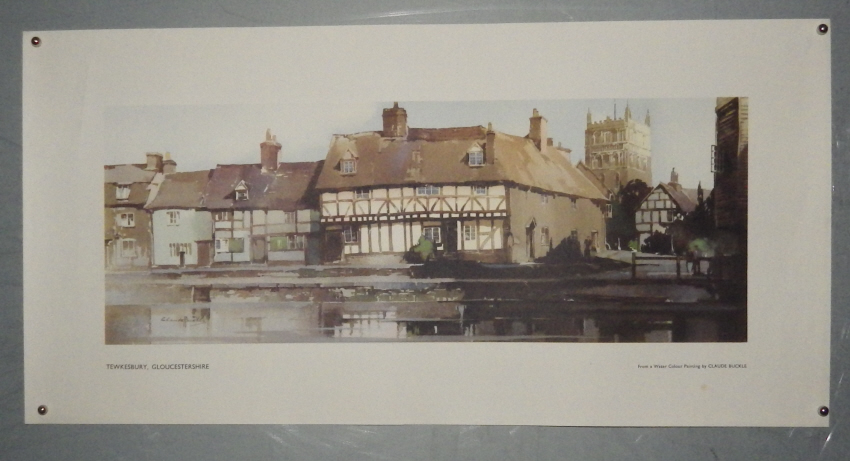 Claude Buckle Tewkesbury carriage print