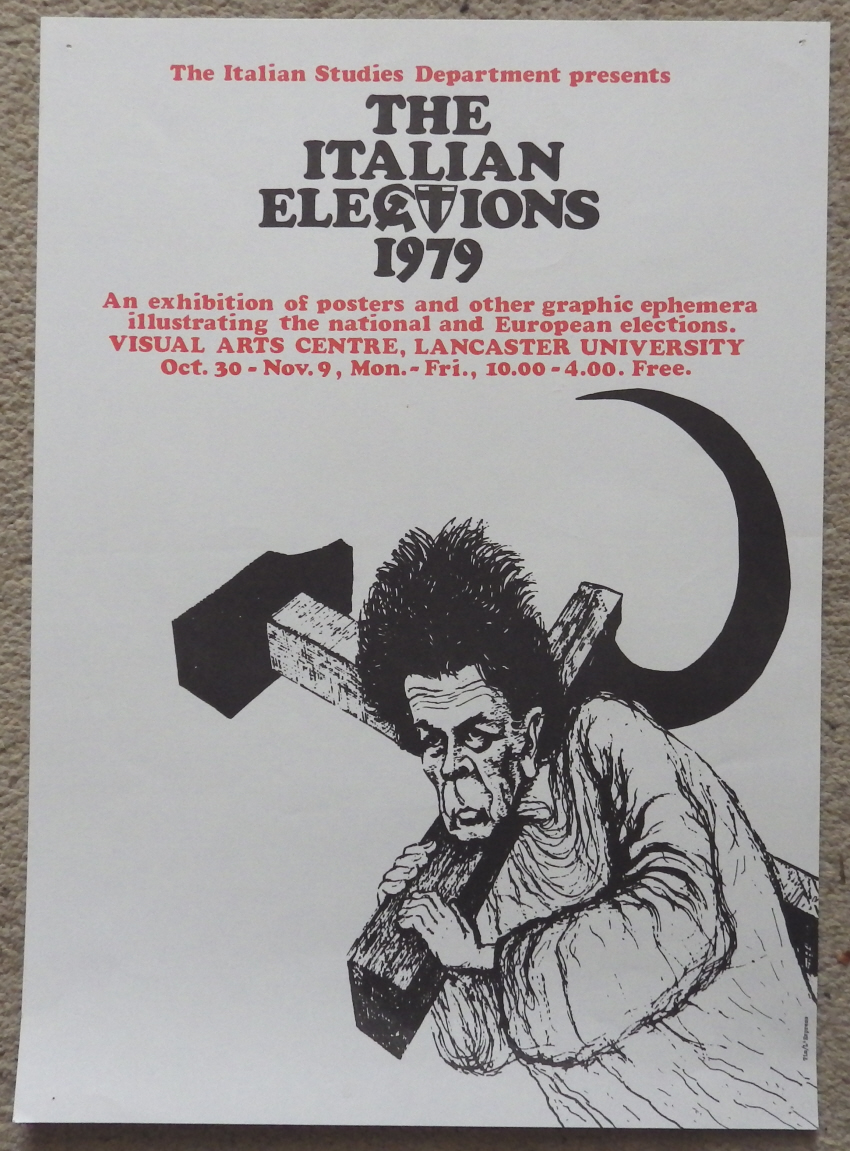 Italian Elections 1979 exhibition poster