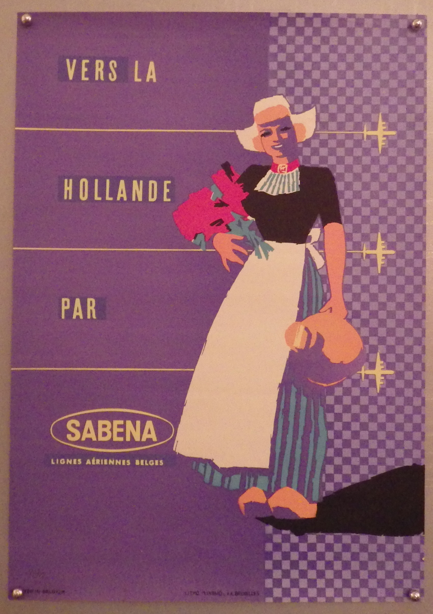 Sabena Airlines poster