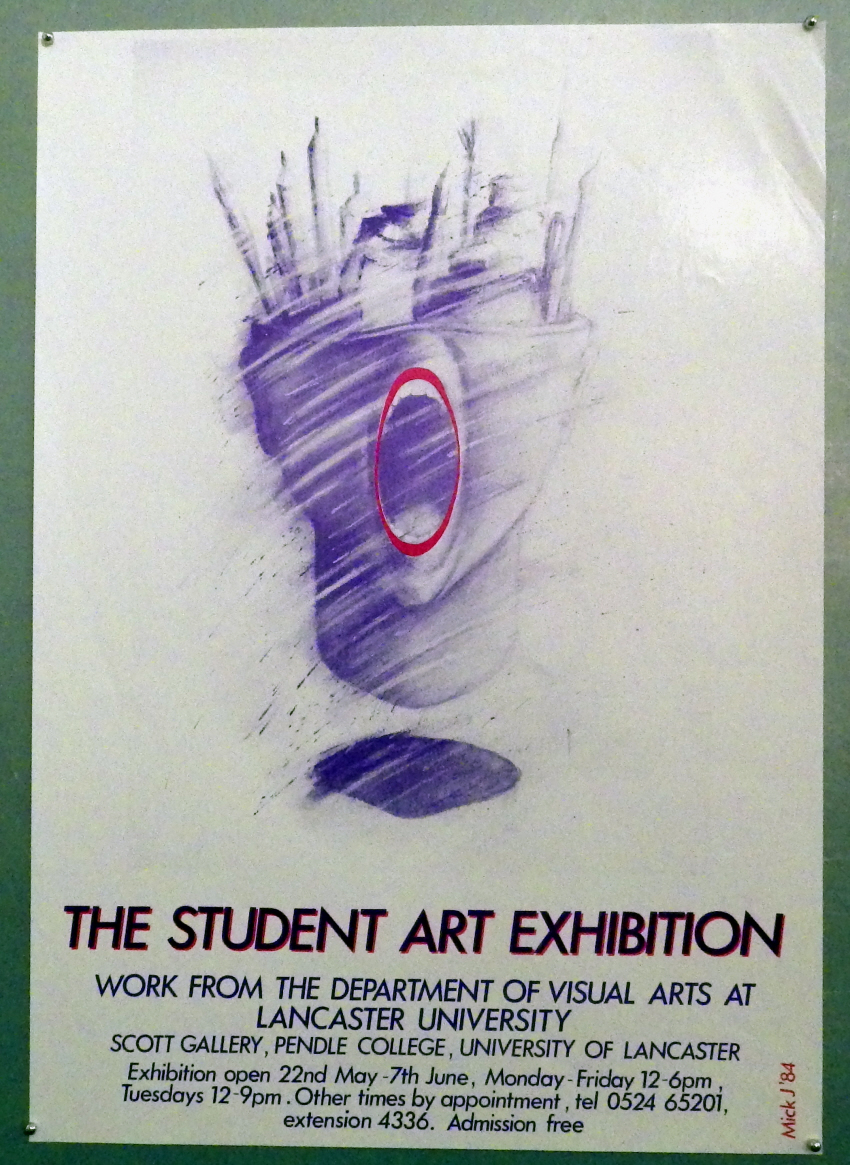 Mick Johnson exhibition poster