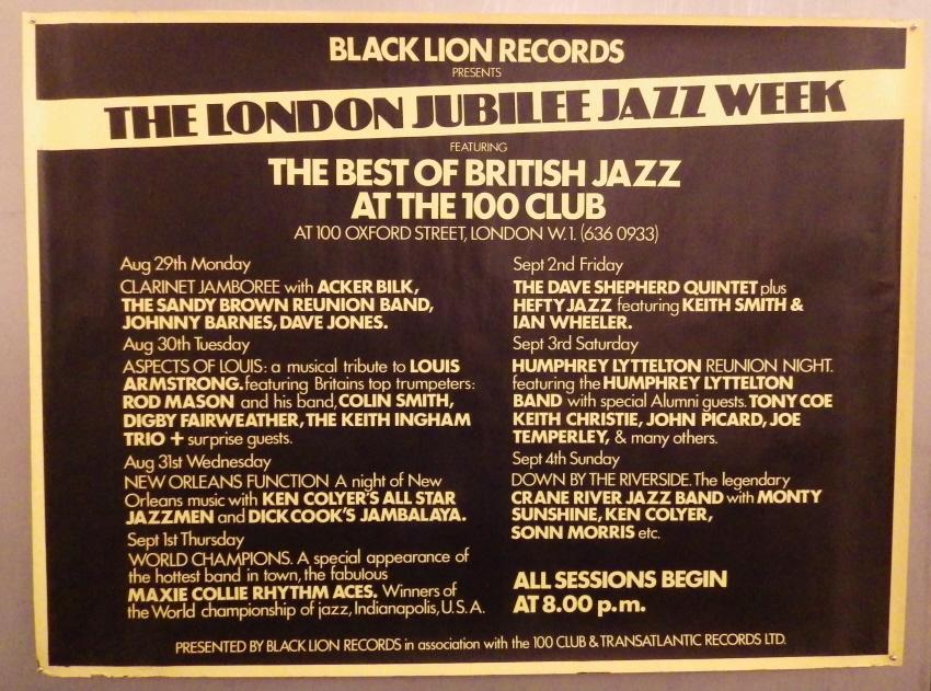 London Jubilee Jazz Week poster