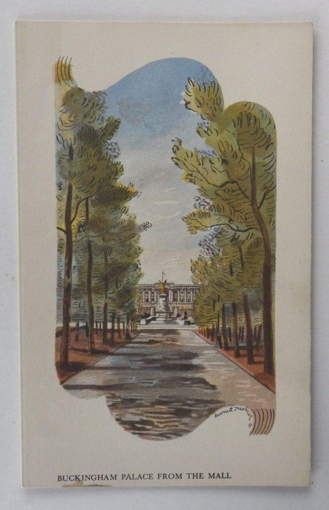 Barnett Freedman menu Buckingham Palace