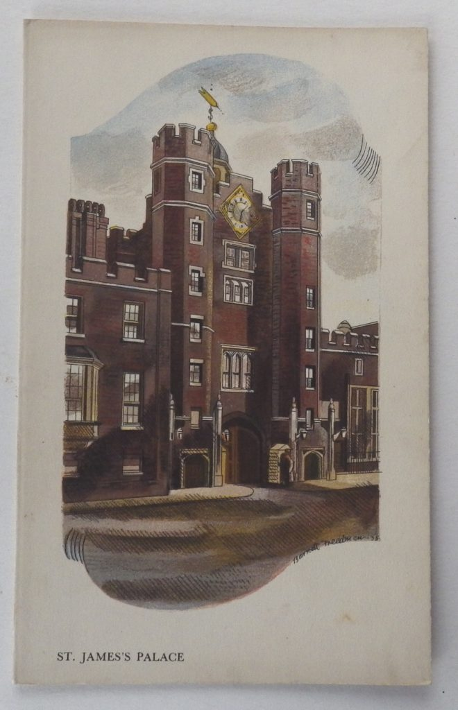Barnett Freedman menu St James's Palace