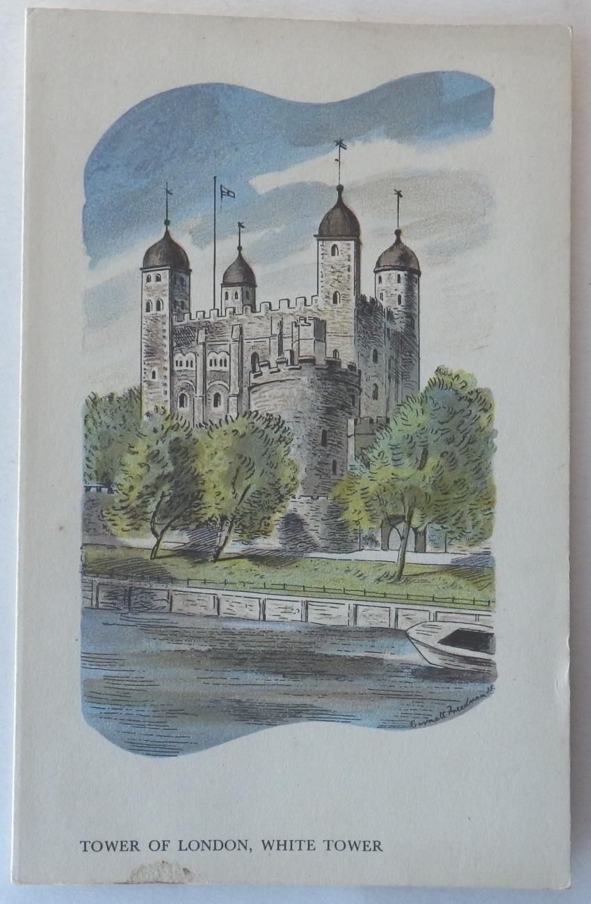 Barnett Freedman menu Tower of London