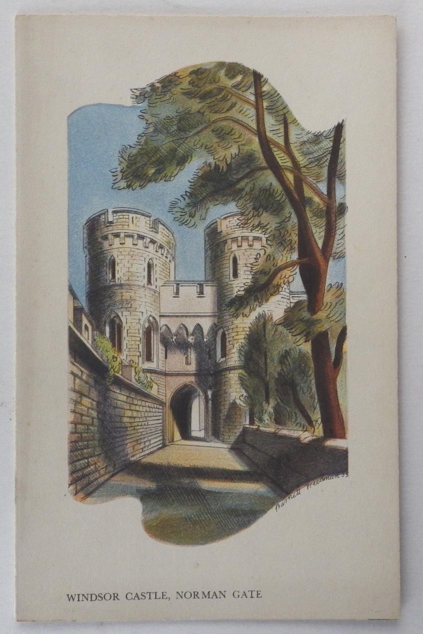 Barnett Freedman menu Windsor Castle