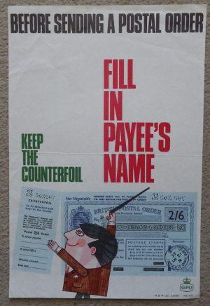 Before Sending a Postal Order poster