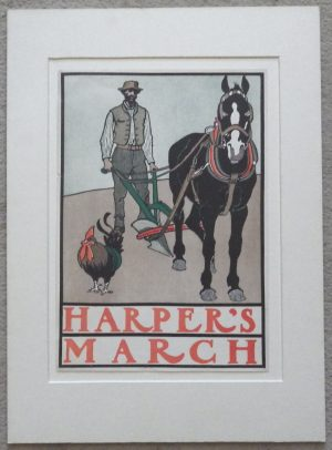 Edward Penfield Harper's March lithograph