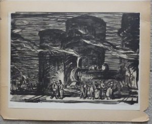 Frank Brangwyn lithograph 1921