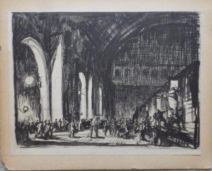 Frank Brangwyn lithograph Gare du Nord
