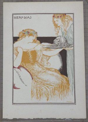 Robert Anning Bell lithograph Herodias