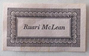 Ruari McLean book label