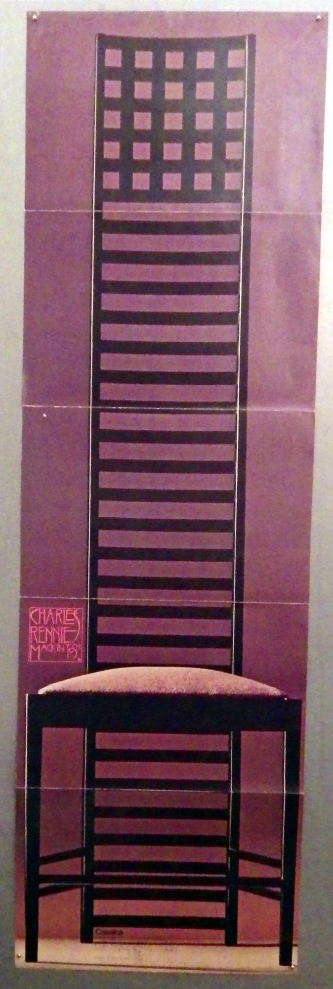 Charles Rennie Mackintosh chair poster