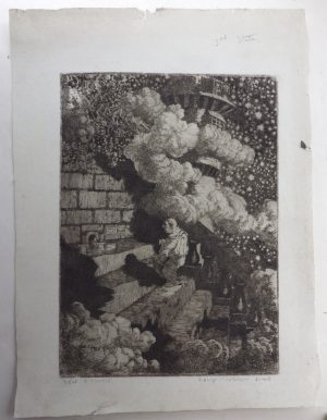 Sidney H Sime etching