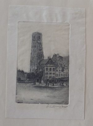 Walter Edwin Law etching