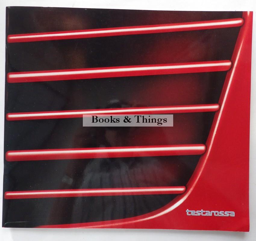 Ferrari Testarossa brochure