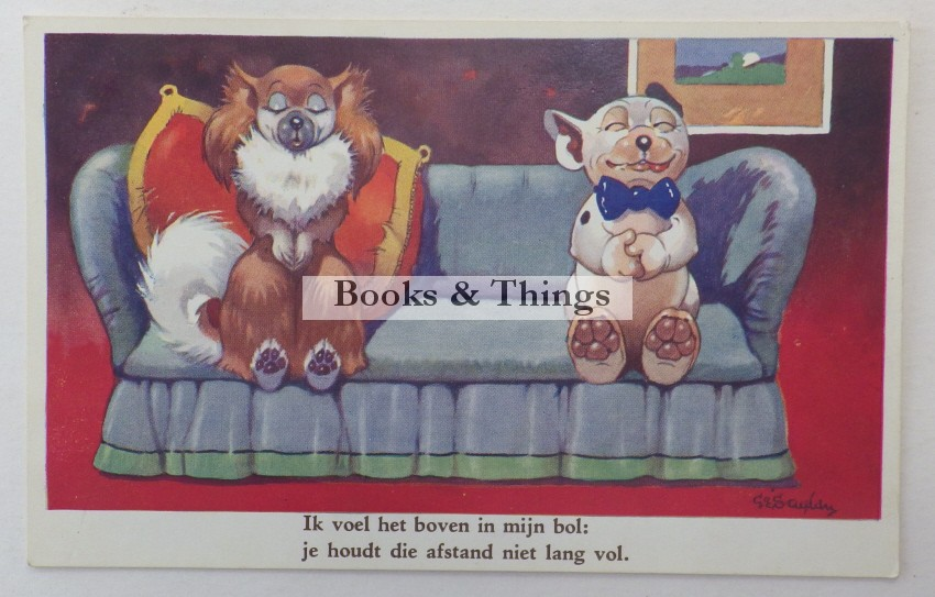 Bonzo postcard in Dutch