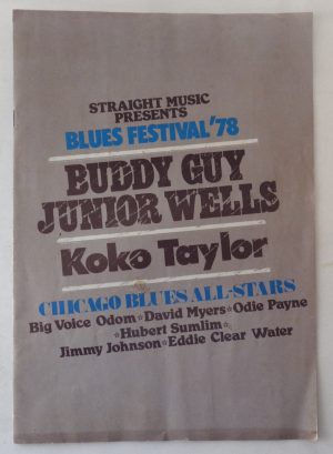 Blues Festival 1978 programme