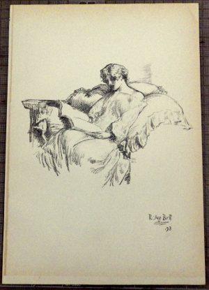 Robert Anning Bell lithograph Music Score