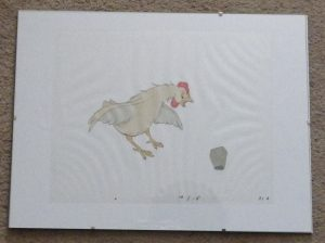 Animal Farm animation cel - cockerel