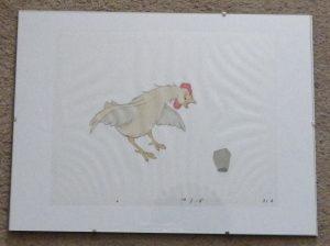 Animal Farm animation cel - cockerel