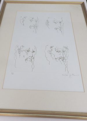 Michael Ayrton etching