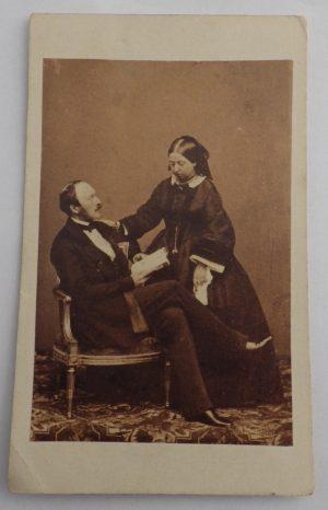 Queen Victoria & Prince Albert carte-de-visite