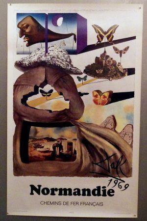 Salvador Dali Normandie poster