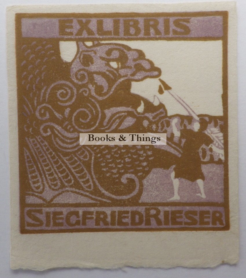 Siegfried Rieser bookplate