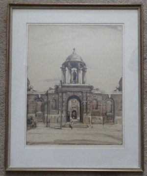 William Nicholson Queens College lithograph