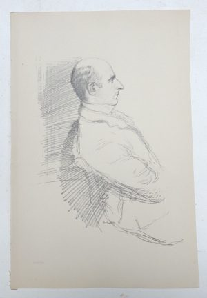 William Rothenstein lithograph of Arthur Wing Pinero