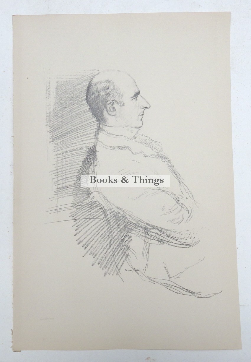 William Rothenstein lithograph Arthur Wing Pinero