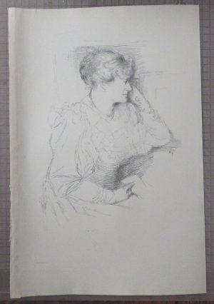 William Rothenstein lithograph of Ellen Terry