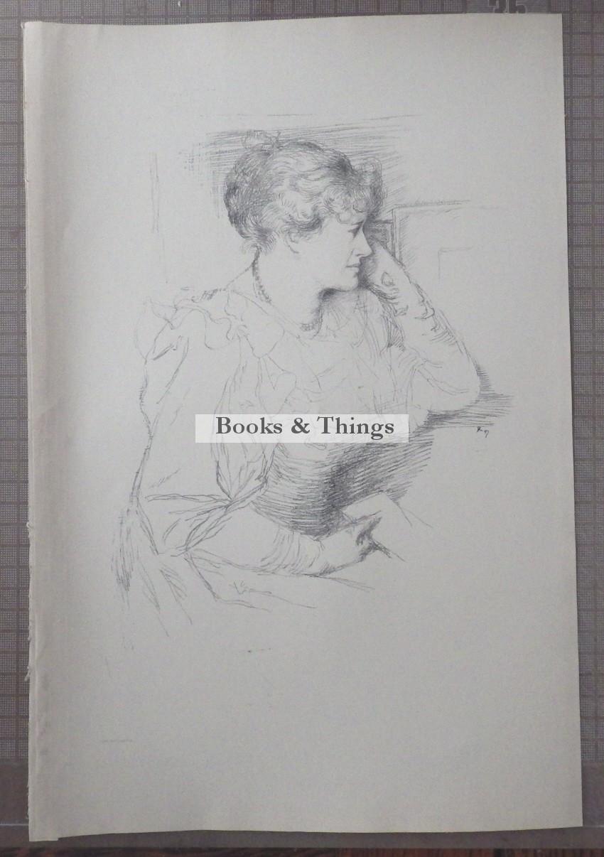 William Rothenstein lithograph EllenTerry