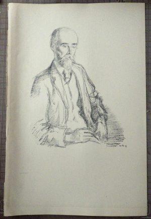Sidney Colvin lithograph
