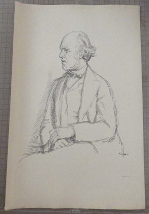 William Rothenstein lithograpgh of W.E.H. Lecky