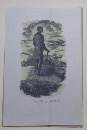 Agnes Miller Parker signed woodengraving